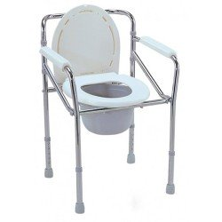 Commode WO/Wheels Silver