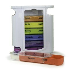 SPACARE Weekly Pill Organizer 7Colors in White Box 088