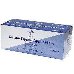 "Wooden Cotton Applicator Tip Sterile 6"""
