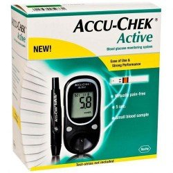Accu-Chek Glucometer Active W/10