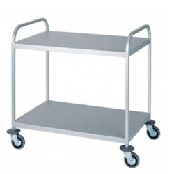 Trolley Stainless Two Shelf Flat 800202