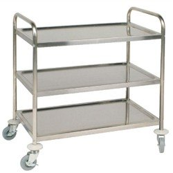 Trolley Stainless Three Shelf Flat 800302