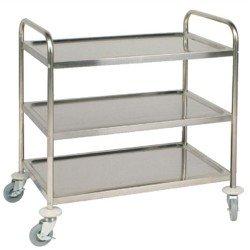 Trolley Stainless Three Shelf Flat 800302